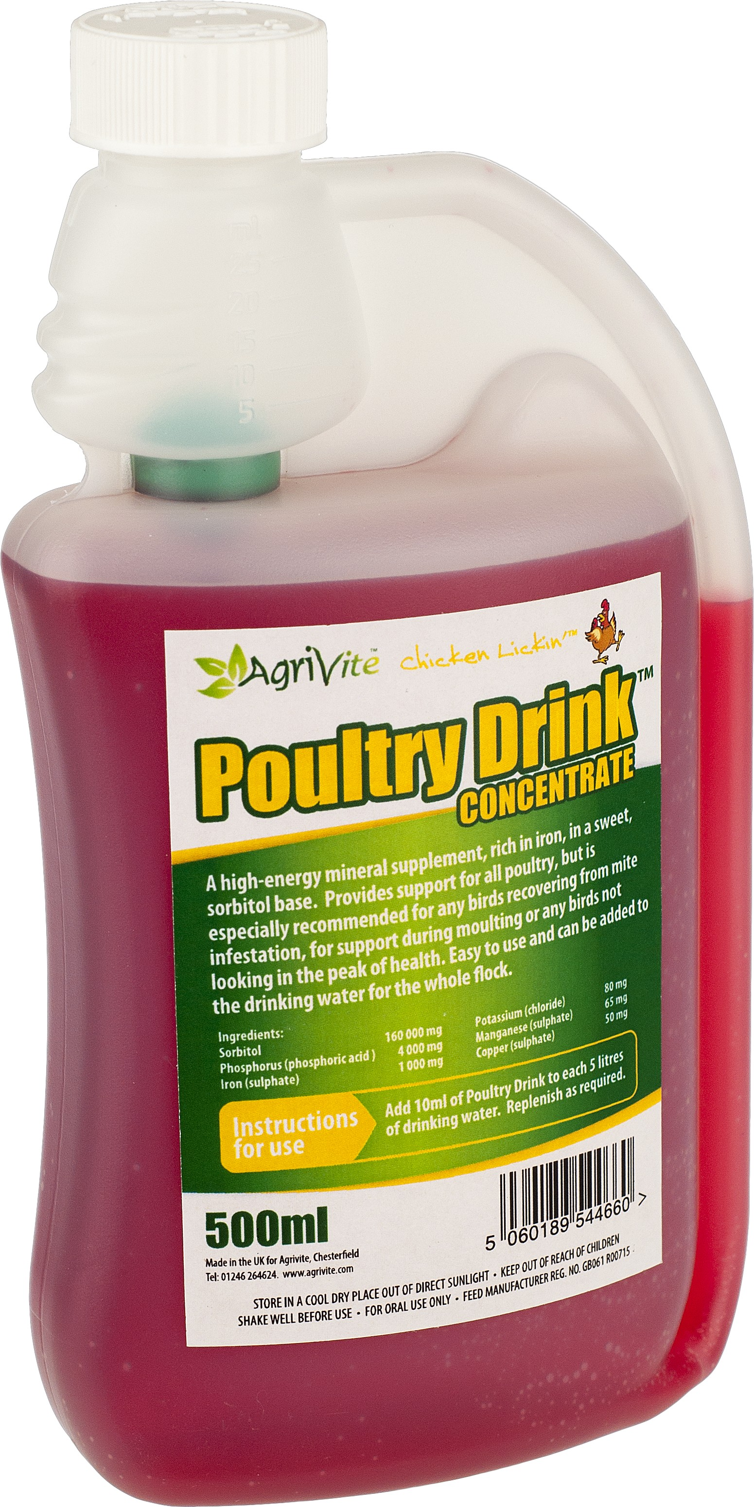 Poultry Drink 500ml 183 Farm And Country
